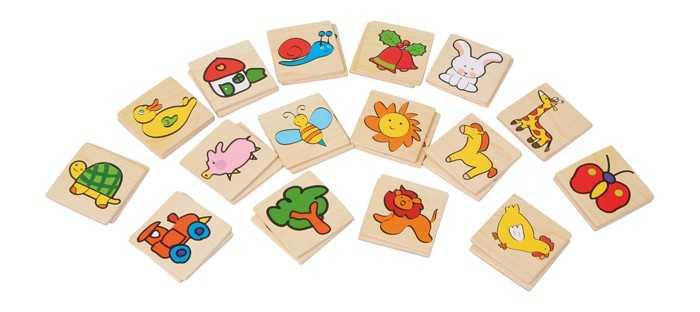Small Foot Dřevěné hry barevné pexeso