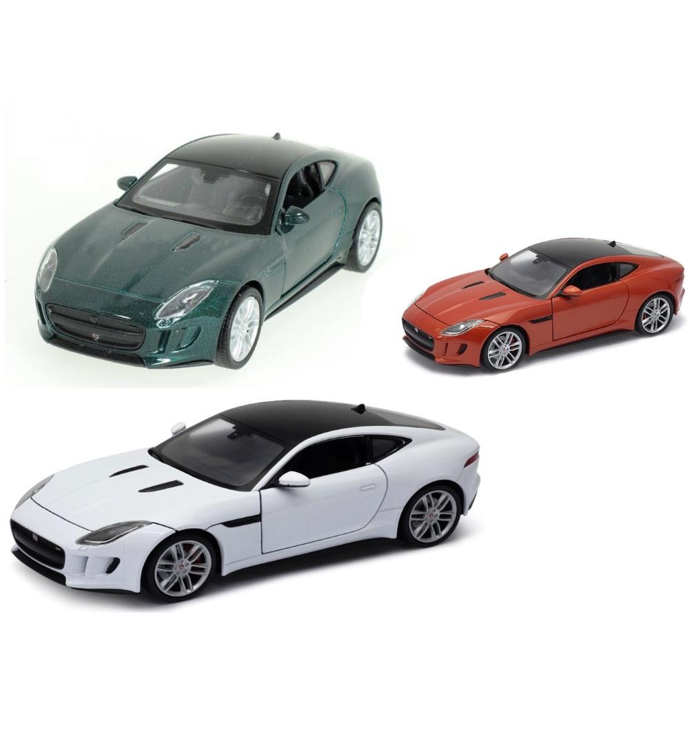 Welly - Jaguar F-Type Coupe model 1:34 tmvě oranžová