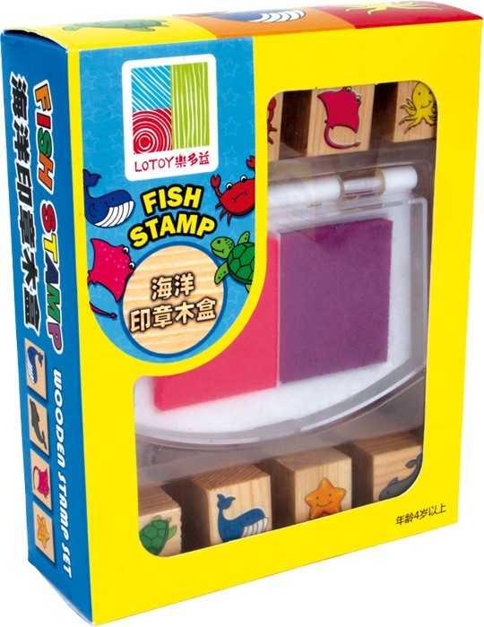 Dřevěné výtvarné hračky - Set razítek Ryby