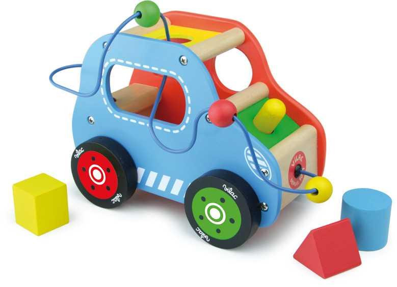 Dřevěná hračka Vilac - Dřevěné motorické auto