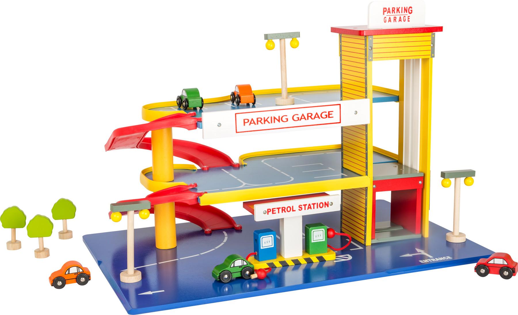 Small Foot Dřevěná garáž - parkovací dům poškozený obal