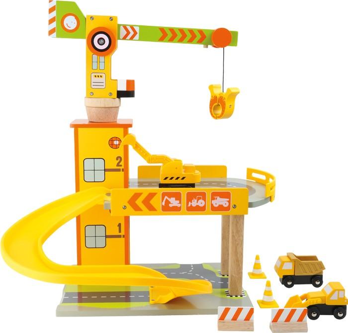 Small Foot Dětská dřevěná parkovací garáž Stavba