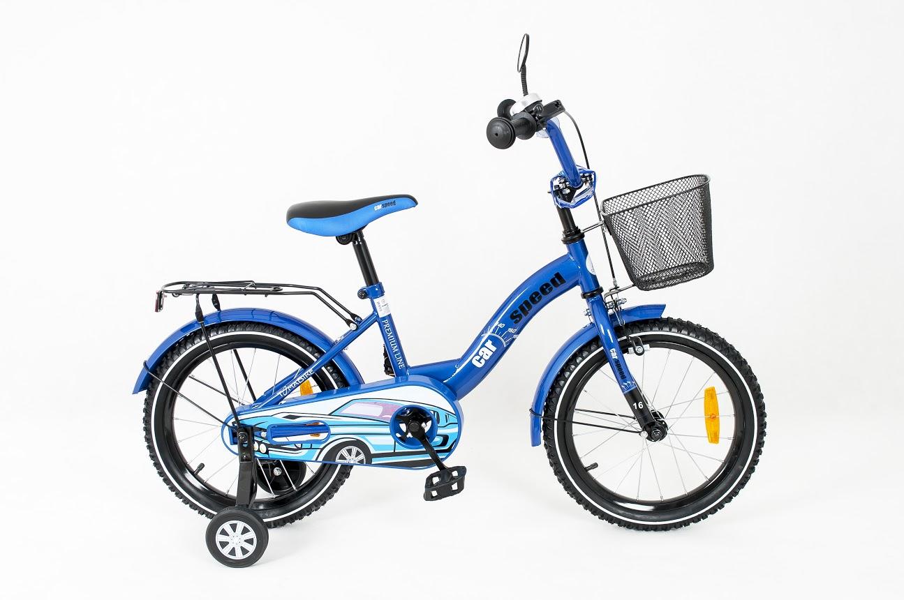 Dětské kolo 1601 Car - modré