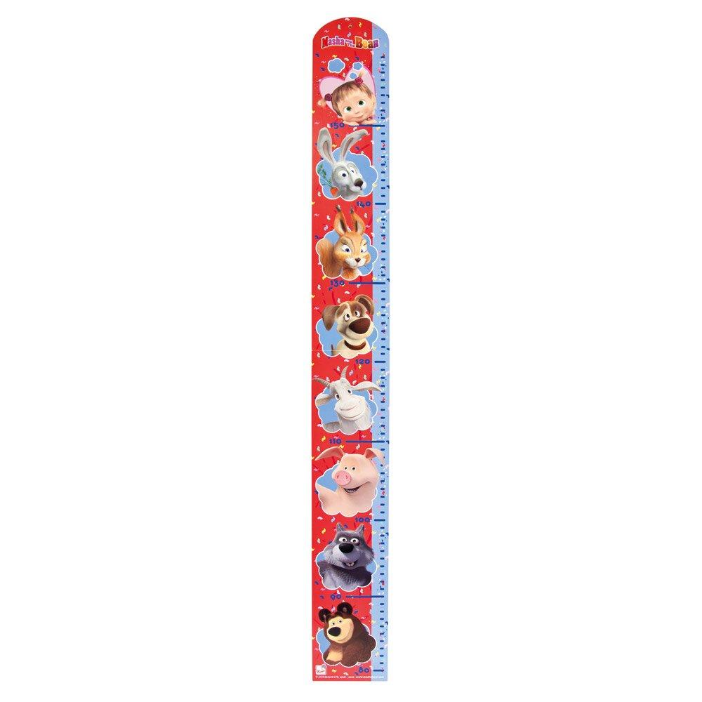 Bino Máša a Medvěd - dřevěný metr červeno modrý