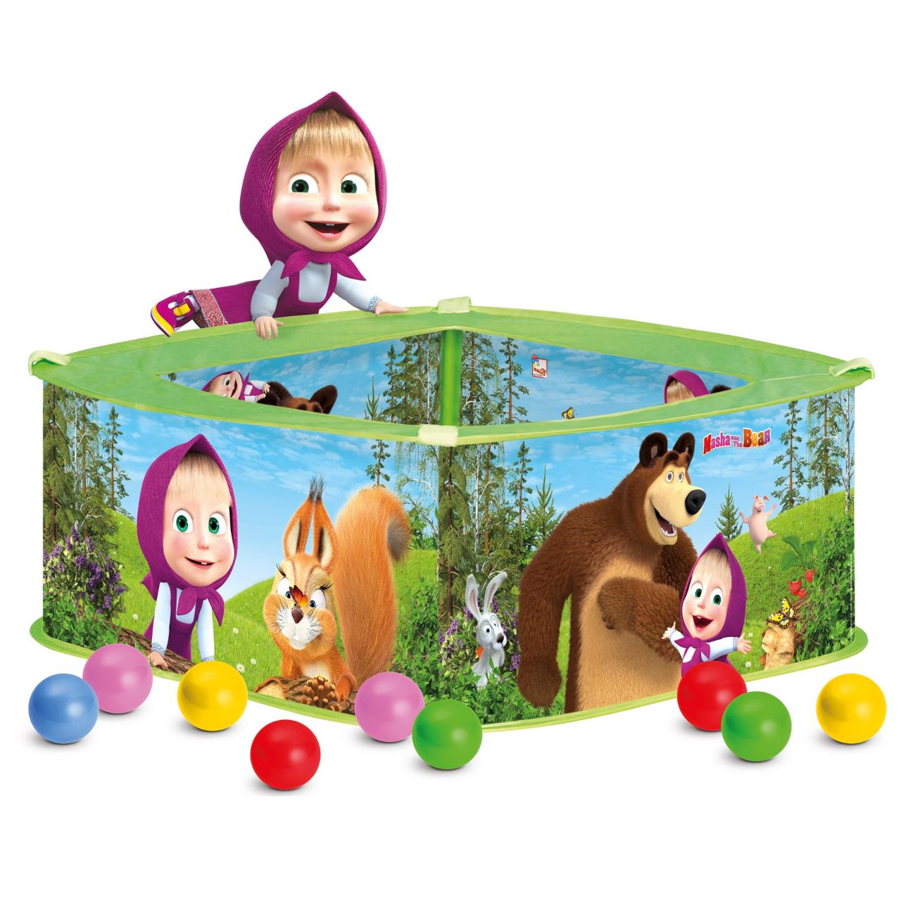 Bino Bazének s balónky Máša a medvěd