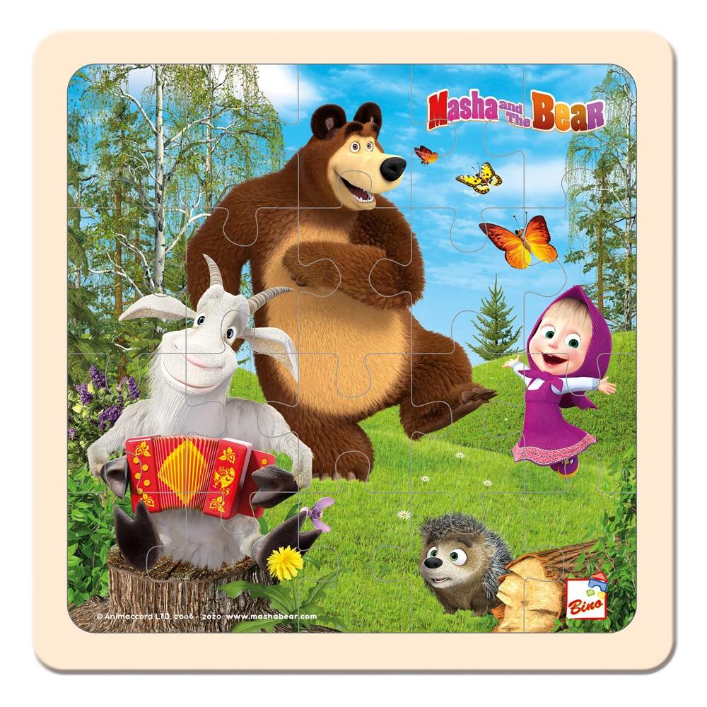Bino Máša a Medvěd - Puzzle 20x20 cm