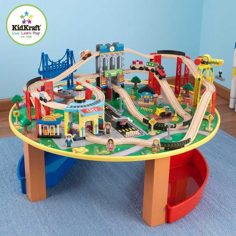 Dřevěná vláčkodráha - KidKraft vláčkodráha se stolem