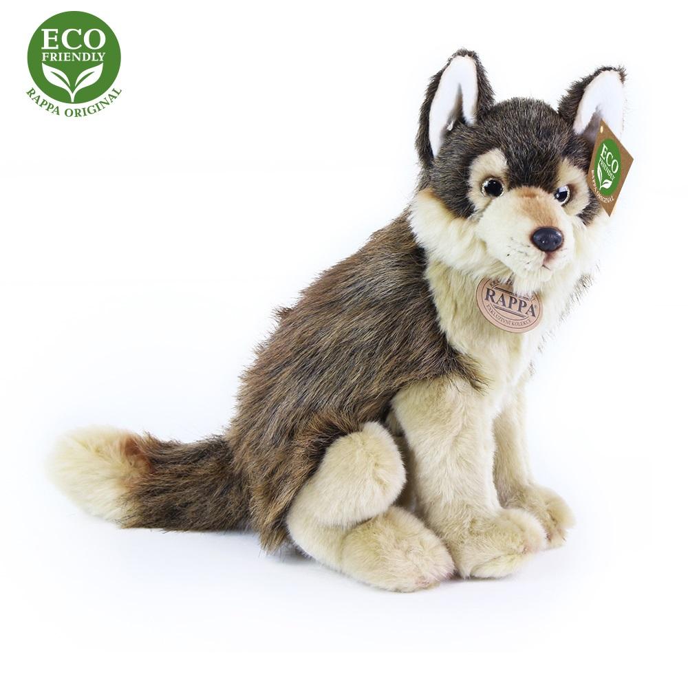 Rappa Plyšový vlk sedící 28 cm ECO-FRIENDLY