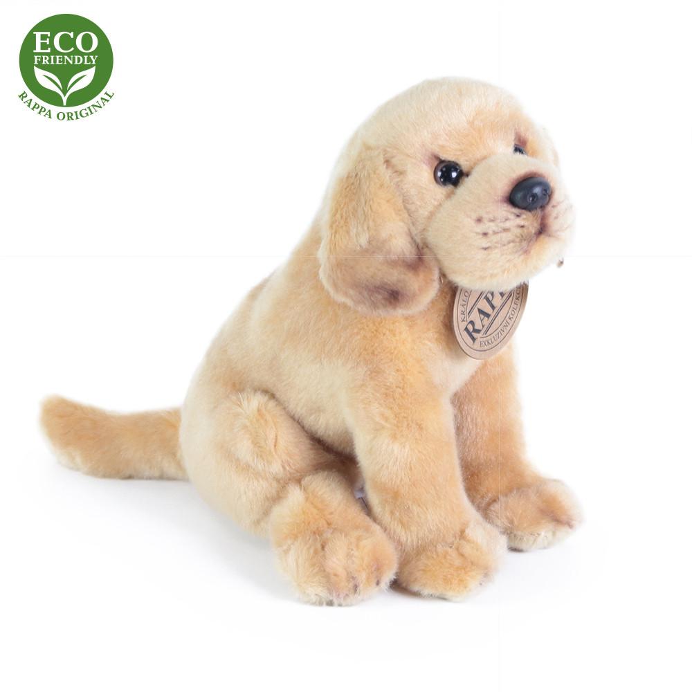 Rappa Plyšový pes labrador sedící 20 cm ECO-FRIENDLY 1 ks světle hnědý