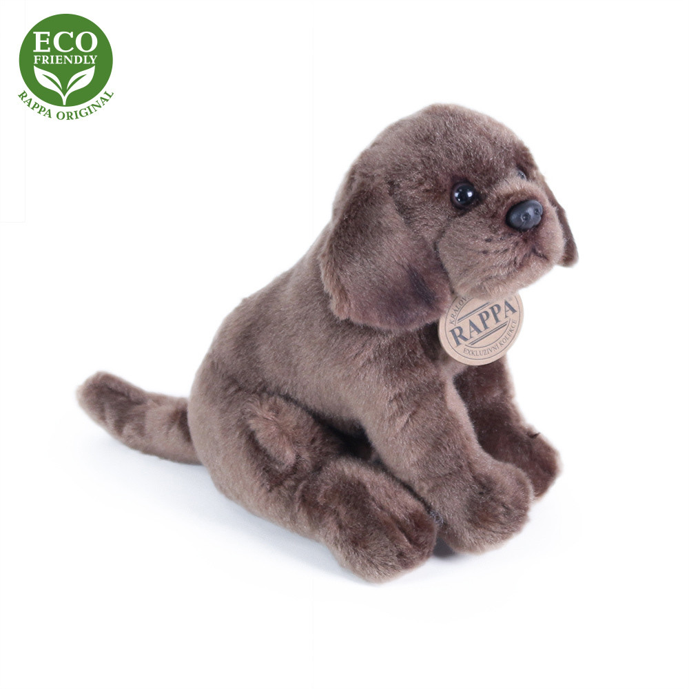 Rappa Plyšový pes labrador sedící 20 cm ECO-FRIENDLY 1 ks hnědý