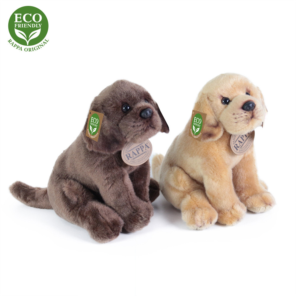 Rappa Plyšový pes labrador sedící 20 cm ECO-FRIENDLY 1 ks
