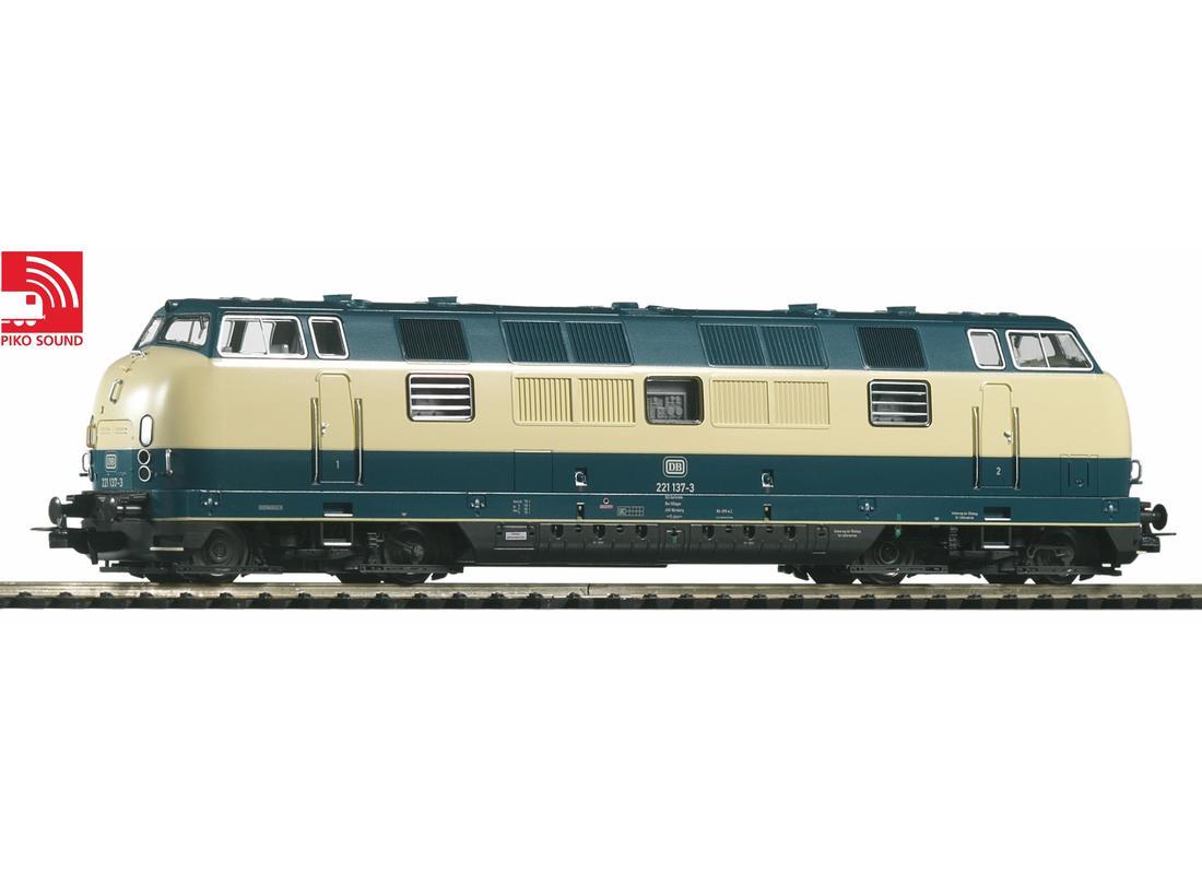 Piko Dieselová lokomotiva BR 221 se zvukovým dekodérem IV - 52604