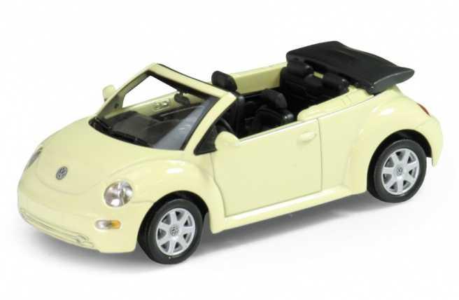 Welly - VW New Beetle Convertible1:34 žlutý