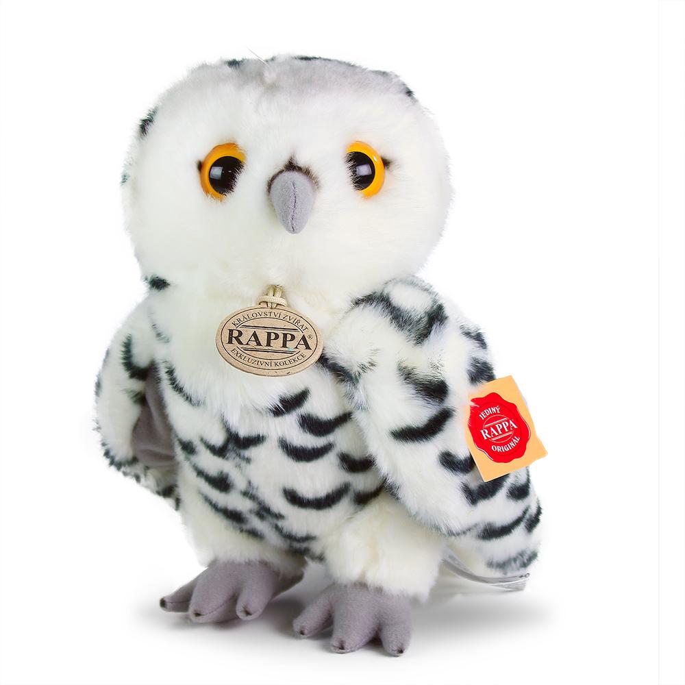 Rappa Plyšová sova bílá 25 cm