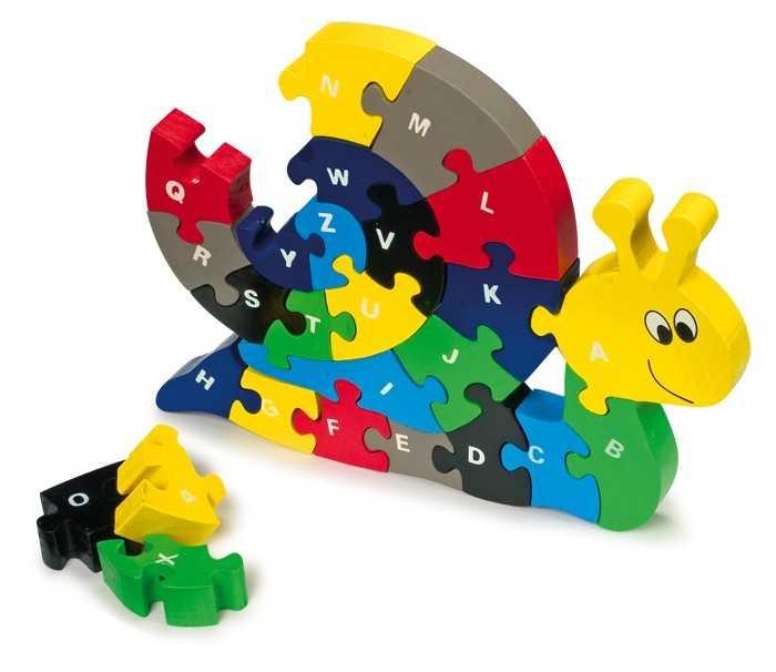 Small Foot Vkládací Puzzle šnek