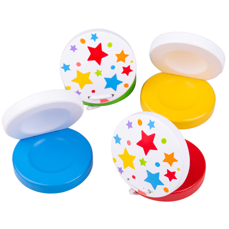 Bigjigs Toys Kastaněty hvězdičky 1 ks zelená