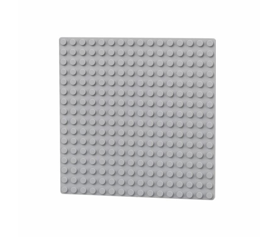 L-W Toys Oboustranná deska 16x16 světle šedá