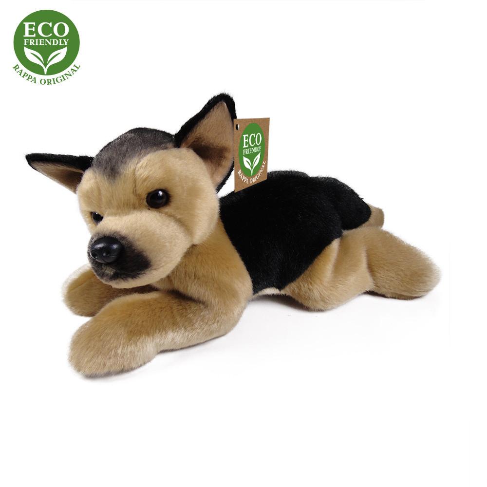Rappa Plyšový pes německý ovčák ležící 30 cm ECO-FRIENDLY