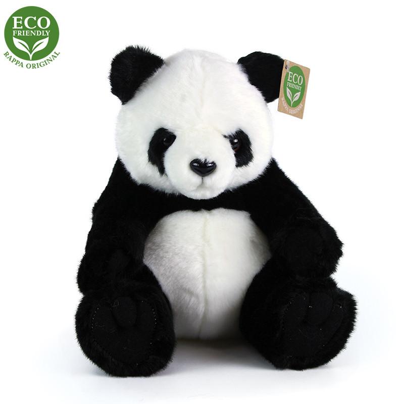 Rappa Plyšová panda sedící 20 cm ECO-FRIENDLY