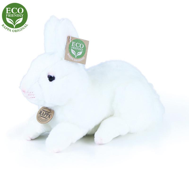 Plyšový králík bílý ležící 23 cm ECO-FRIENDLY