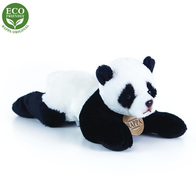 Rappa Plyšová panda ležiaci 18 cm ECO-FRIENDLY