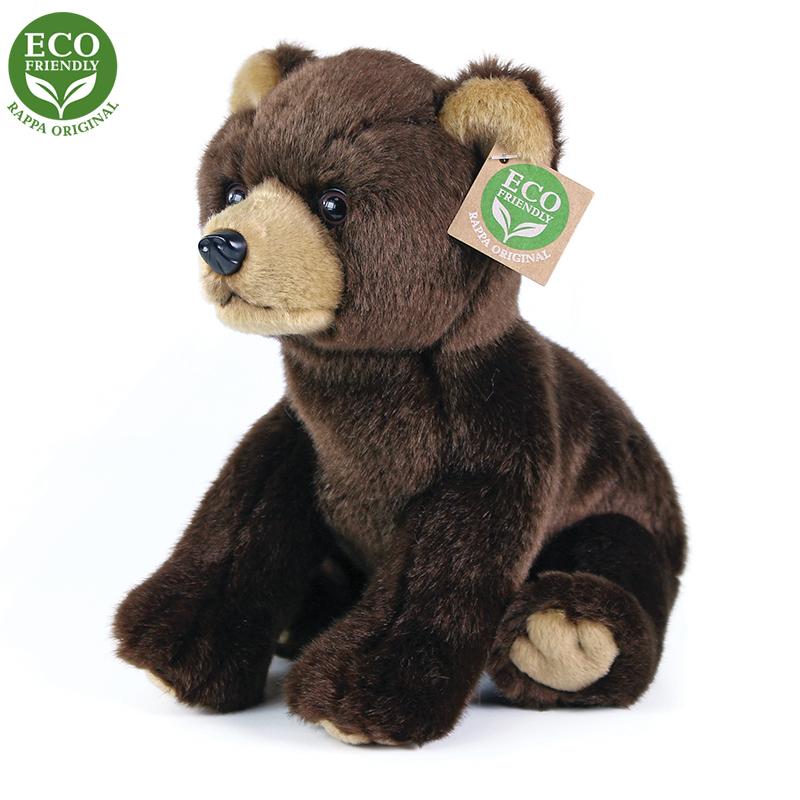 Rappa Plyšový medvěd sedící 25 cm ECO-FRIENDLY