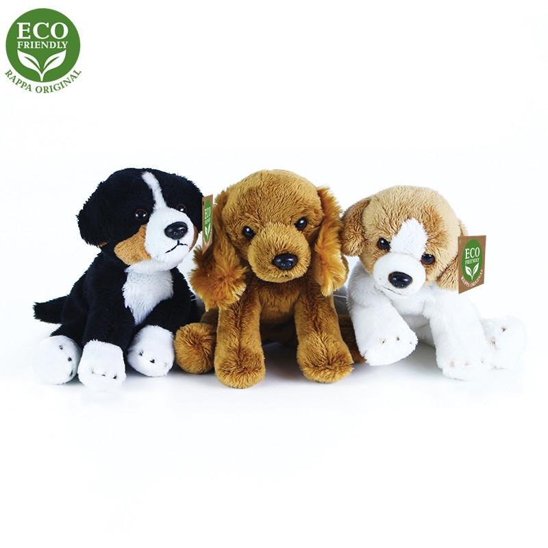 Rappa Plyšoví psi sedící 14 cm ECO-FRIENDLY 1ks