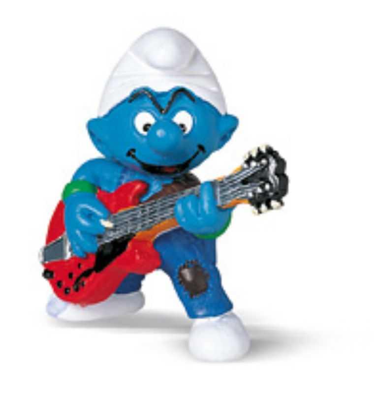 Figurky šmoulové  Schleich - Šmoula kytarista