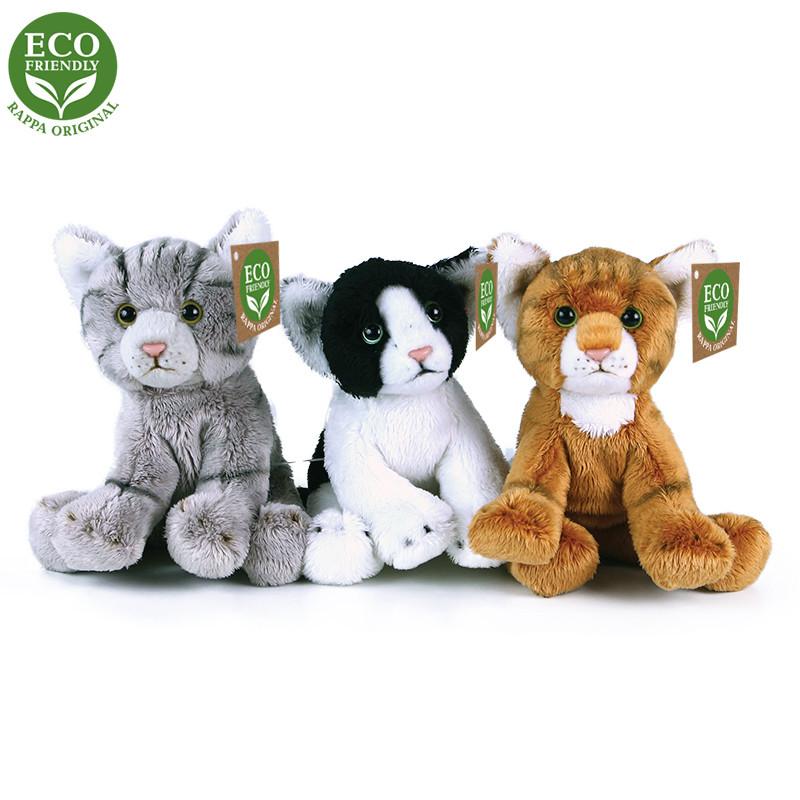 Rappa Plyšová kočka sedící 14 cm ECO-FRIENDLY ECO-FRIENDLY 1ks bílá