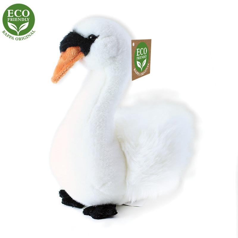 Rappa Plyšový pták labuť sedící 23cm ECO-FRIENDLY
