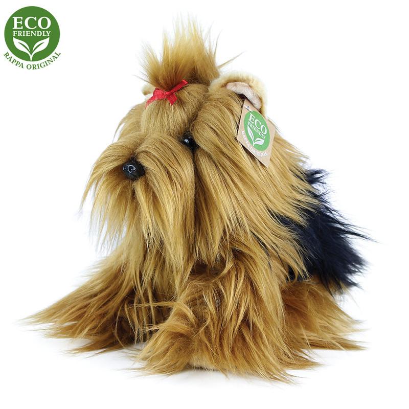 Rappa Plyšový pes Jorkšírský teriér sedící 23 cm ECO-FRIENDLY