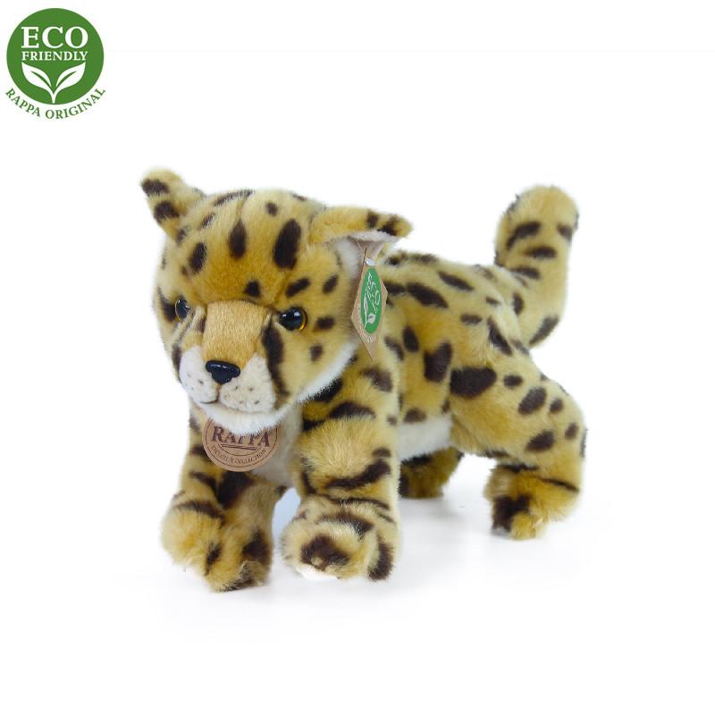 Rappa Plyšový gepard mládě stojící s tvarovatelnými končetinami 22 cm ECO-FRIENDLY