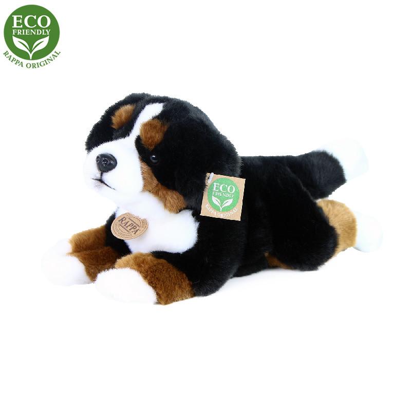 Rappa Plyšový bernský salašnický pes ležící 30 cm ECO-FRIENDLY