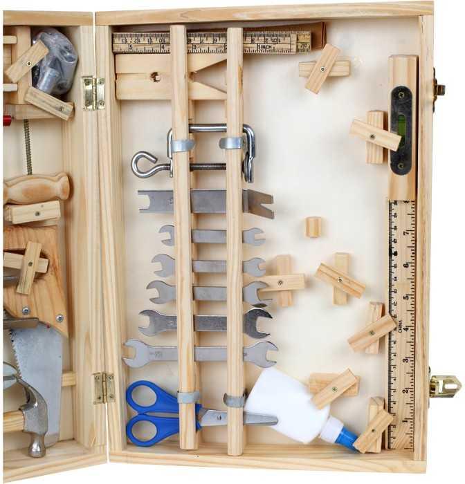 Dřevěné hračky - Kufřík dřevěné nářadí Deluxe