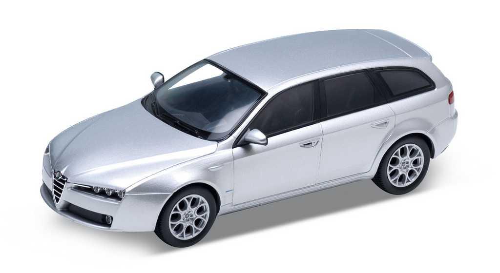 Welly - alfa 159 Sportwagon 1:24 stříbrná