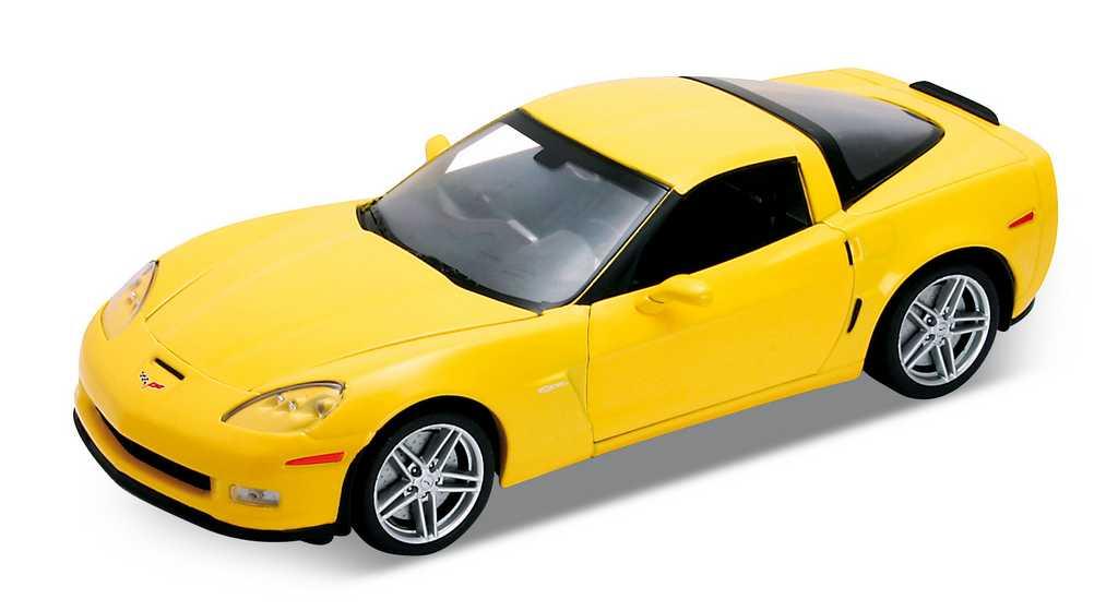 Welly - 2007 Chevrolet Corvette Z06 1:24 žlutá