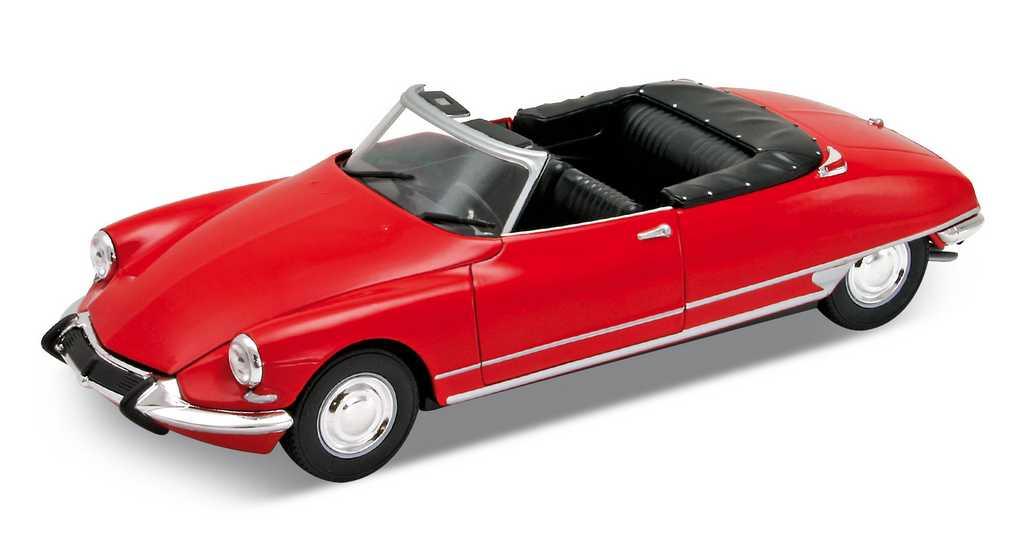 Welly - Citroen DS19 cabriolet 1:24 červený