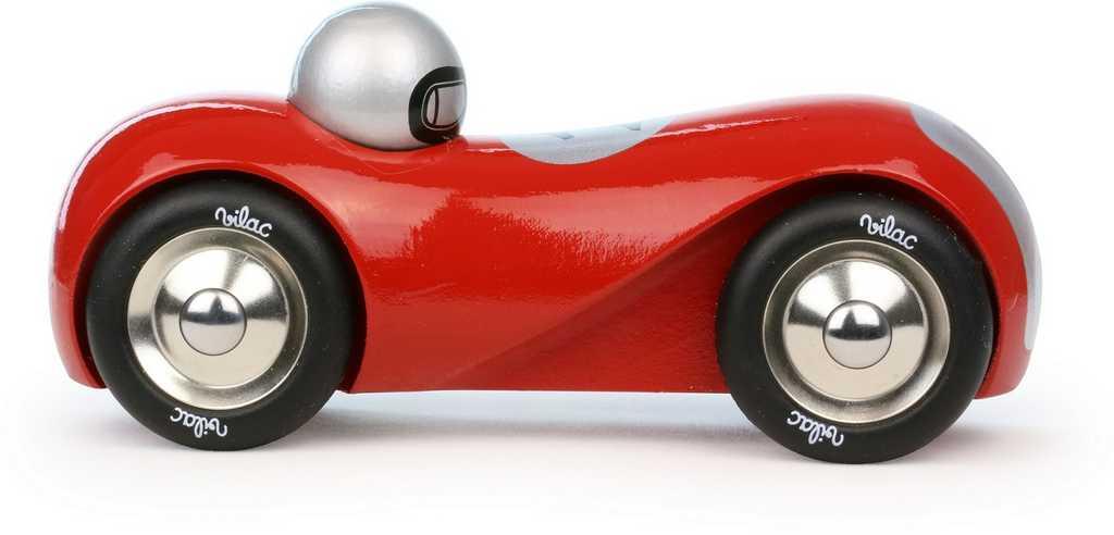 Dřevěná hračka Vilac - Dřevěné historické závodní auto