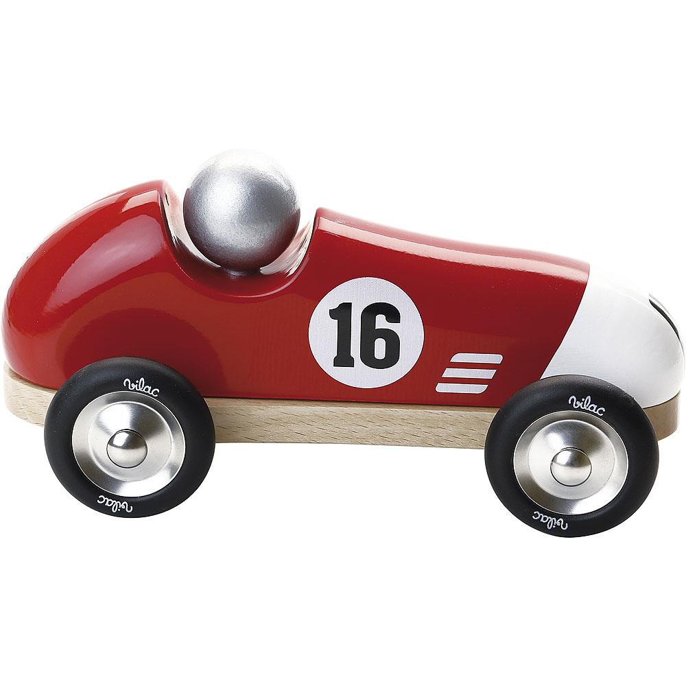 Vilac Závodní auto Vintage červené