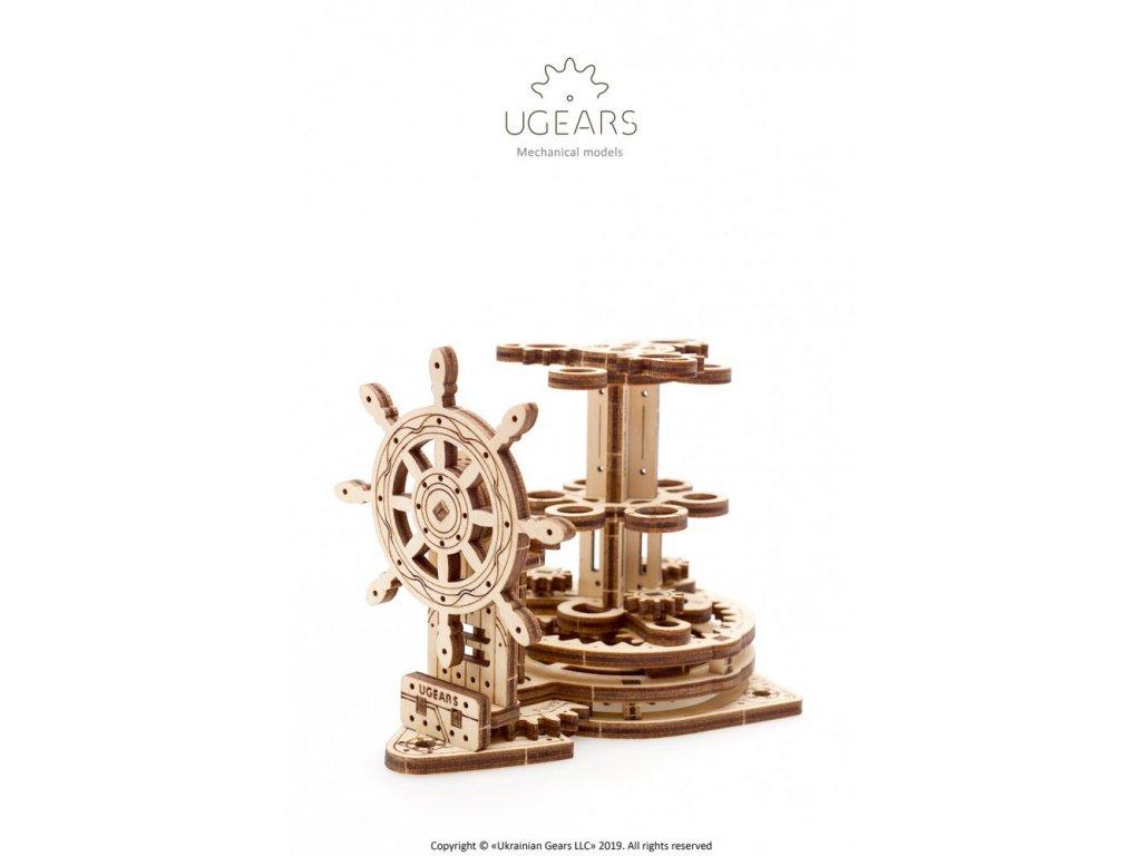 Ugears 3D dřevěné mechanické puzzle Organizér na psací potřeby