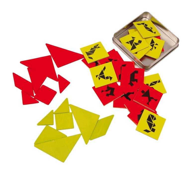 Dřevěné hry - Dřevěné hlavolamy - Tangram pro 2