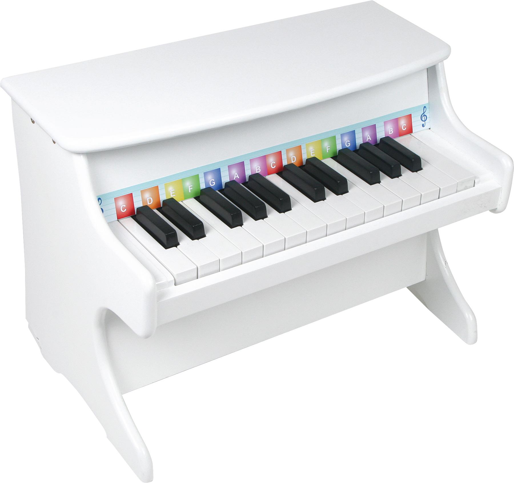 Small Foot Dřevěná muzikální hračka  Klavír bílý