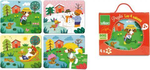 Vilac Dřevěné puzzle 4 období