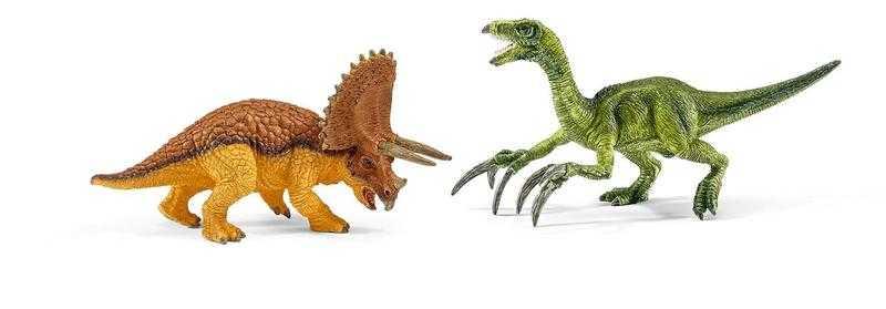 Schleich Triceratops a Therizinosaurus
