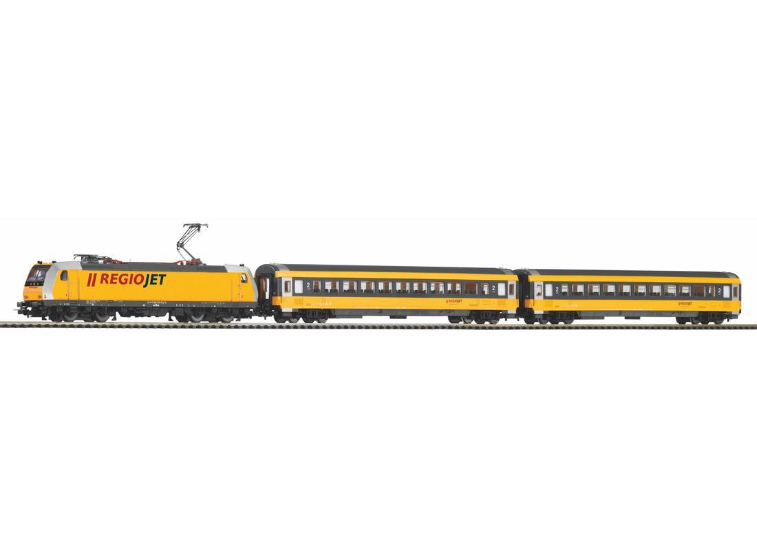 Piko Startovací sada Osobní vlak s elektrickou lokomotivou Regiojet IV - 59021