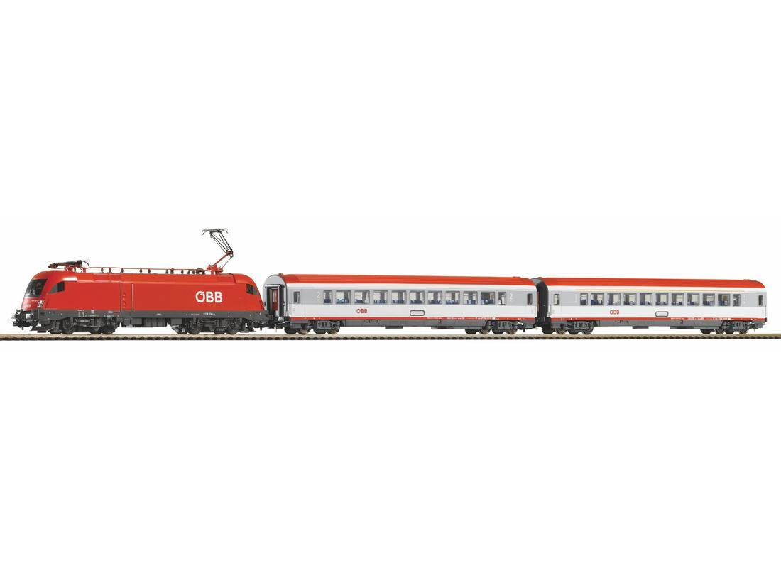Piko Startovací sada Osobní vlak s elektrickou lokomotivou ÖBB V - 59026