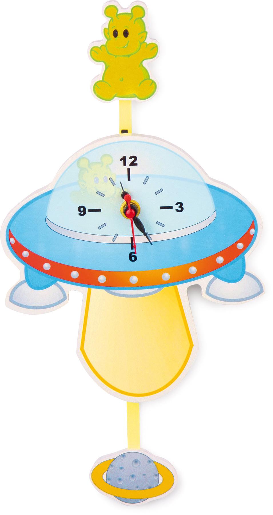 Small Foot Dřevěné hodiny UFO