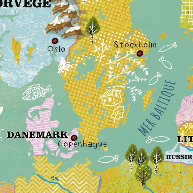 Vilac Nástěnná magnetická mapa Evropy