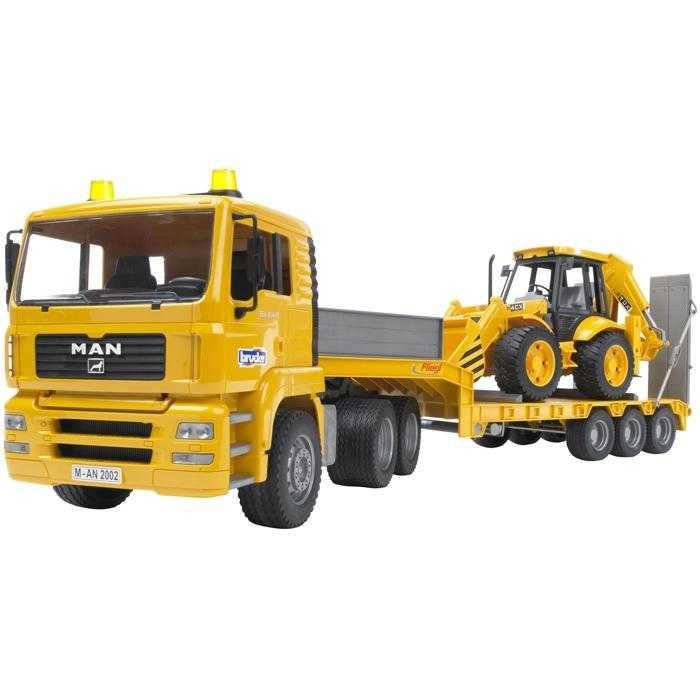 Bruder Nákladní auto MAN návěs + traktor JCB