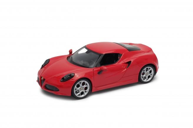 Welly - Alfa Romeo 4C model 1:34 bílá
